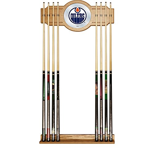 Trademark Gameroom NHL Edmonton Oilers Cue Rack with Mirror by Trademark Gameroom