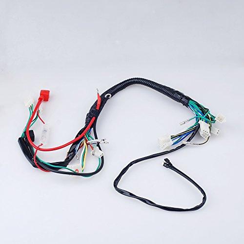Electric Start Wiring Harness Wire Loom Pit Bike ATV Quads 50-110 125CC Go Kart - Wiring Harness Loom
