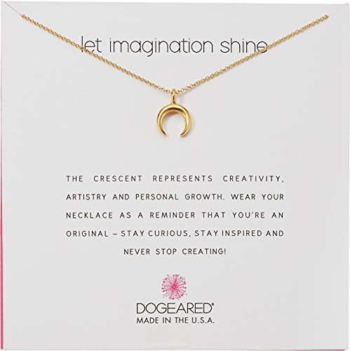 - Dogeared Women's Let Imagination Shine, Crecent Necklace Gold One Size