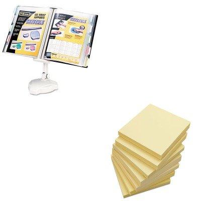 Wall Mount Copyholder - KITFEL22300UNV35668 - Value Kit - Fellowes Desktop/Wall Mount Copyholder (FEL22300) and Universal Standard Self-Stick Notes (UNV35668)