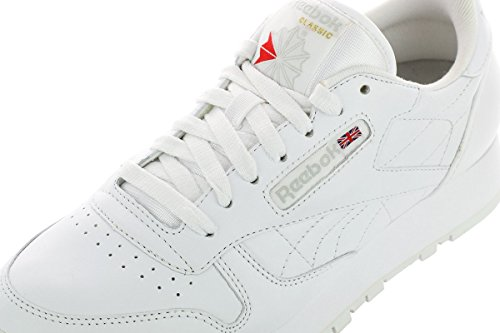 Grey White Classic Men's White Leather Reebok Sneaker 0YqnB