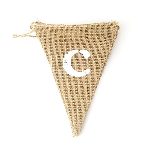 LWR Crafts Burlap Bunting Banner Triangle Heart Candy Bar (Heart Candy Bars)