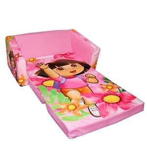 Marshmallow Fun Furniture Flip Open Sofa With Slumber Attachment: Dora Theme