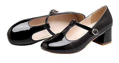 GMMDB006795 Donna Fibbia Chiusa Punta di AgooLar Pelle Puro Ballet Flats Nero Maiale O6nFvqwAp