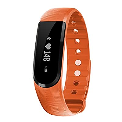 HYON Brand new Activity Tracker for Sporting?IPx7 waterproof Smart Wristband and Notification Alerts ,Bluetooth 4.0 SmartWatch Pedometer with OLED Touch & Sliding Screen (Z3 Orange)