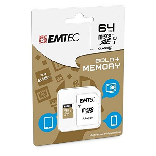 Emtec Microsdxc 64GB Class10 Gold +