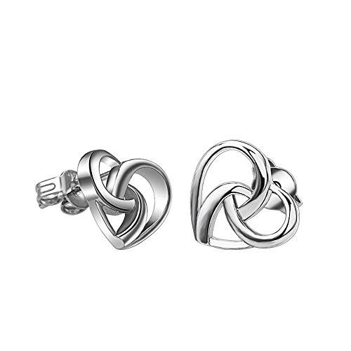 (Acxico Double Heart Shape Hollow out Love Romantic Stud Earrings)