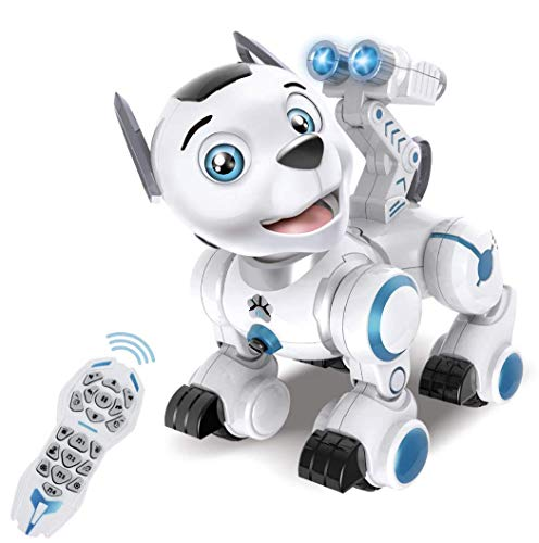 Bsmart toys Intelligent Hi-Tech Wireless Robot Dog ,Remote Control Educational Puppy Pet Best Birthday Gift for 5,6,7,8,9 Years Boys and Girls Interactive Robotic Friend