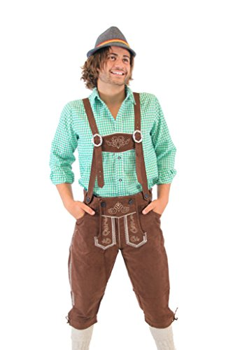 Oktoberfest German Bavarian Lederhosen Costume Pants (34) by Costume Agent