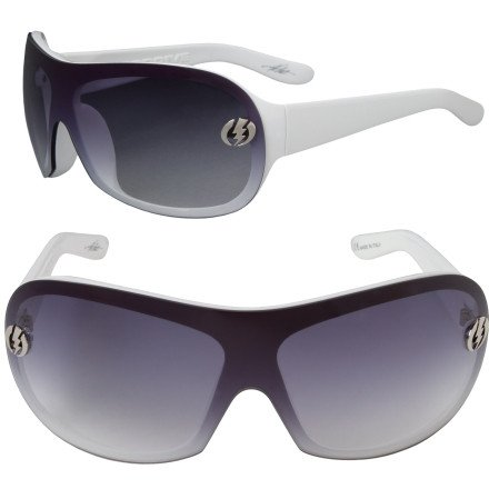 Electric Overdrive Sunglasses White Gloss/Grey Grad, One - Electric Overdrive Sunglasses