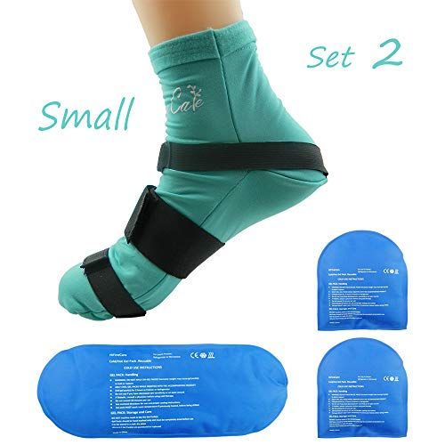 Cold Therapy Socks (w/Compression Strap) - Ice Pack Socks Man/Woman Cooling Socks Gel Ice Treatment for feet, Heels, Swelling, Arch ()