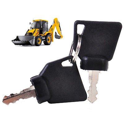 FidgetFidget Ignition Keys New 2pcs Replacement Fits JCB Parts 3CX  Excavator OEM 145501