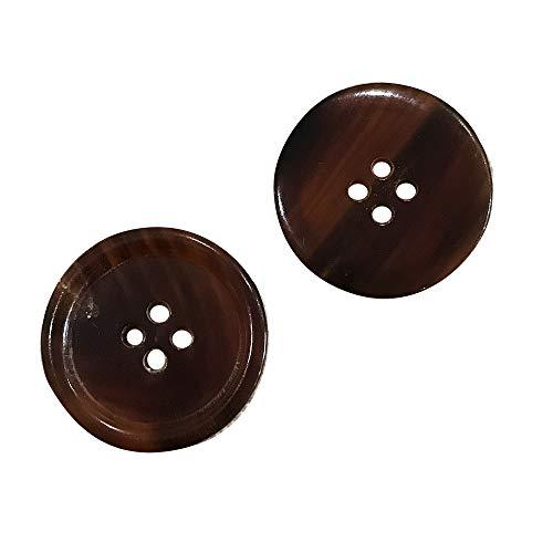Uniform Sport Coat Wide Tip Rim Jacket for Blazer YCEE 11 Pieces Genuine Natural Brown Horn Blazer /& Suits Button Set