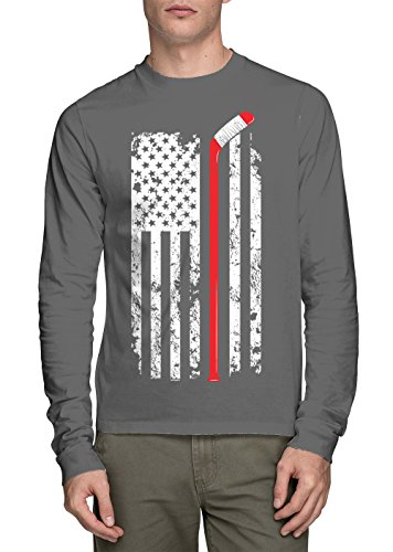 Sleeve Hockey Stick American T shirt