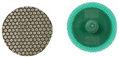 3 Diameter Pack of 5 Yellow M40 Grit 3M Roloc Flexible Diamond Disc 6234J TR Attachment 3 Diameter