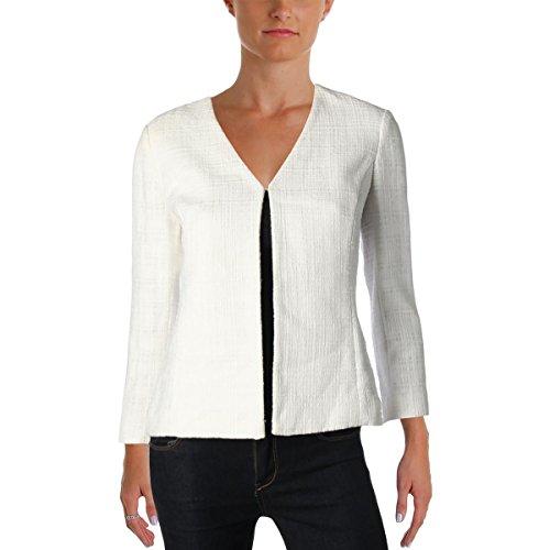 Tommy Hilfiger Womens Textured Bracelet Sleeves Blazer White 4
