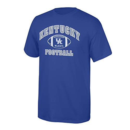 Men's Kentucky Wildcats Team Color Football T-shirt Kentucky Wildcats Royal Small ()