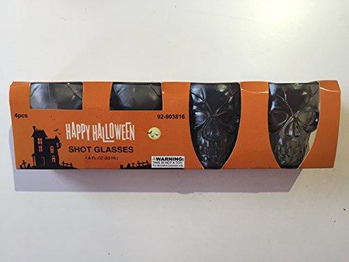Halloween Shot Glasses - Plastic 4 pack (Gray)