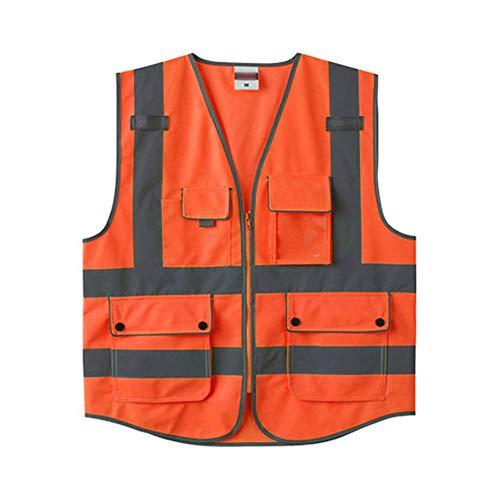 Ping Bu Qing Yun Reflective Vest - High Visibility Safety Vest Night Riding Traffic Uniform Construction Safety Clothing Reflective Vest Fluorescent Clothing (Three Colors Optional) Reflective Vests