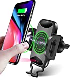 Automatic Infrared Wireless Car Charger, 10W Fast Charging Car Mount, Air Vent Phone Holder, QC3.0 Fast Charging Compatible for iPhoneX/8/8 Plus/Samsung Galaxy S9/8/7/Note 8 and More Qi Phones