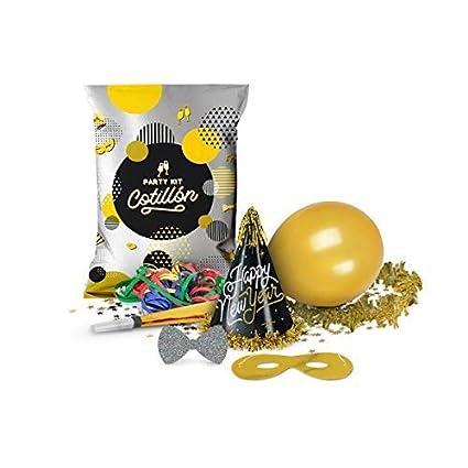 Party Planet Pack 6 Bolsa de Fiesta Carnaval Metalizada Gala con 7 Piezas   Gorros 0959797c0af