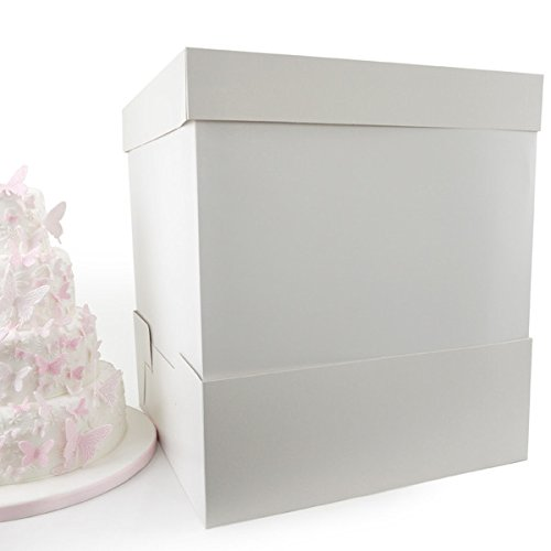 14 Inch White Cake Box & 14 x 14 x 18 Inch Extender Cake Craft World