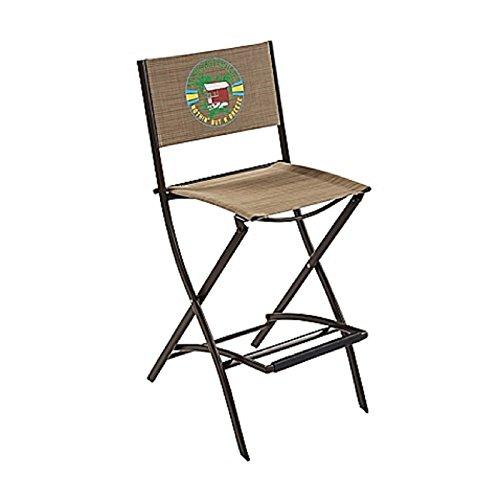 Margaritaville Outdoor Sling Folding Tiki Bar Stool in (Tiki Bar Furniture)