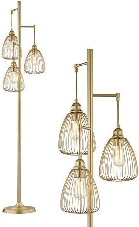 LeeZM Gold Industrial Floor Lamp