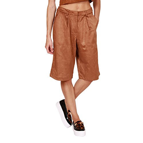Glamorous Women's Suede Brown Culottes in Size XS Brown