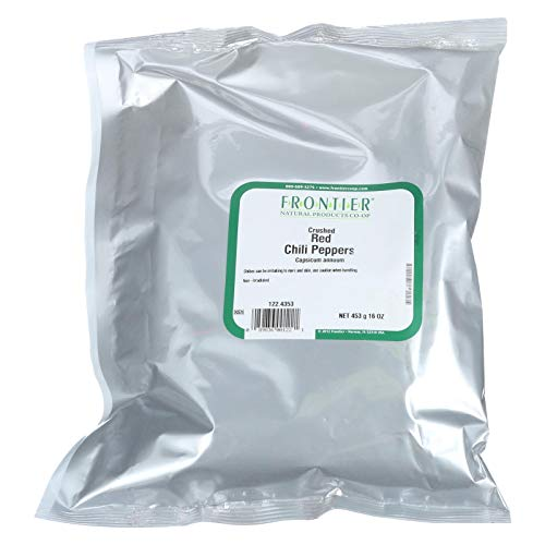 Frontier Herb Red Chili Pepper Flakes, Bulk, 1 Pound