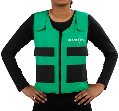 Glacier Tek Sports Cool Vest with Nontoxic Cooling Packs Green by Glacier Tek (Image #2)