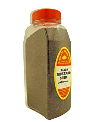 Marshalls Creek Spices Black Mustard Seed Seasoning, Whole, Xl Size, 24 Ounce