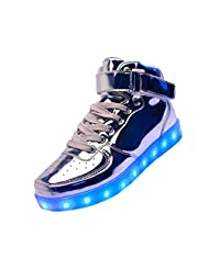 Merveilleux Unisex Light Up Sneakers LED Shoes 7 Colors Lights High Tops #4
