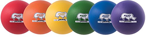 Champion Sports 10 Inch Rhino Skin Super High Bounce Special Dodgeball Set by Champion Sports