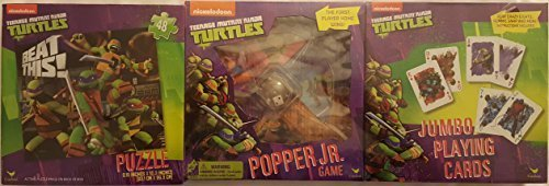 [Teenage Mutant Ninja Turtles 3 Game Set Interactive Child Toys Puzzle -Cards - Popper Jr Christmas Gift Children Boy] (Ninja Turtles Splinter Costumes)