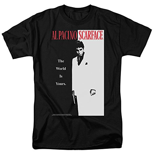 Popfunk Scarface The World is Yours T Shirt & Exclusive Stickers (X-Large) Black
