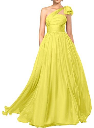 da lungo linea sera sposa abito abito a ressing ivyd Prom Donna Fest Elegant una da spalla vestito di Gelb abito FBxfgqT