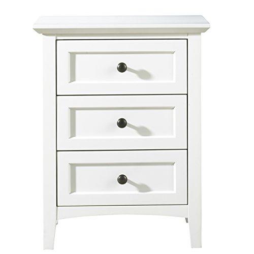 English Mahogany Side Table - Modus Furniture 4NA481 Paragon Nightstand, White