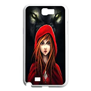 The Wolf Design Pattern Hard Skin Back Case Cover Potector for Samsung Galaxy Case Note 2 TSL331464