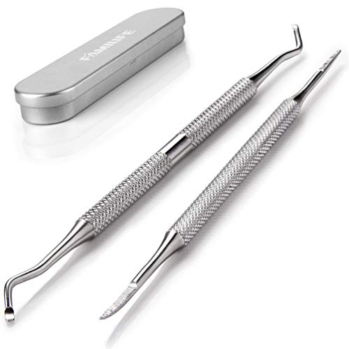 (FAMILIFE L07 100% Stainless Steel Ingrown Toenail File and Lifter Double Sided with Storage Case (Ingrown Toenail)