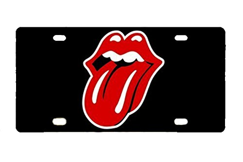 Durable Rolling Stone Metal License Plate Car Tag (Stones Bag Rolling)