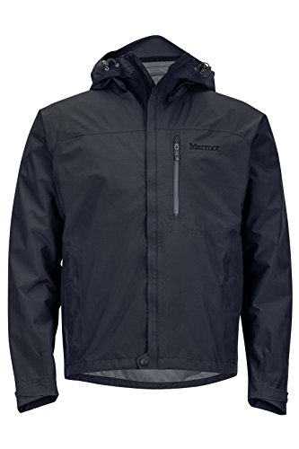 Marmot Minimalist Men's Lightweight Waterproof Rain Jacket, Jet Black