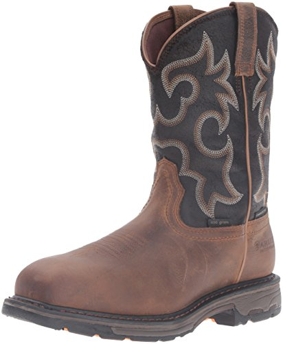 Ariat Men's Workhog H2O 400g Composite Toe Work Boot, Rye Brown/Coffee, 11 D US