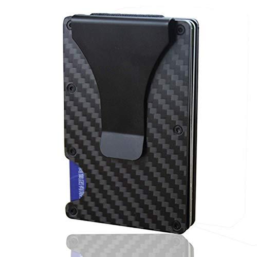 COMLIFE Cartera para Hombre Clip de Dinero de Metal con RFID Bloqueo Protección, Billetera de Tarjeta de Crédito de...