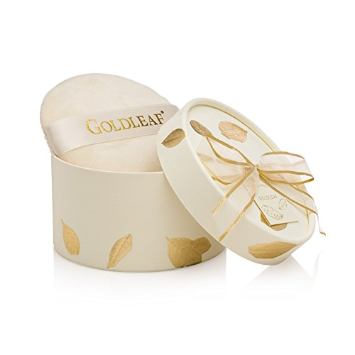 Body Leaf Cream Gold - Thymes - Goldleaf Dusting Powder with Puff - Light Jasmine and Rose Scented Body Powder for Women - 3 oz