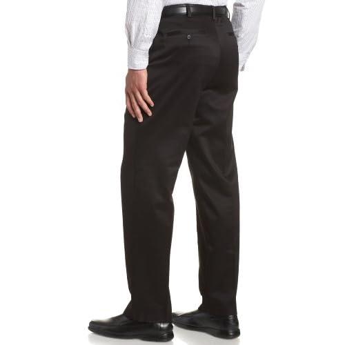 3fca77aa Savane Men's No Iron Comfort Waist Flat Front Luster Twill Pant free ...