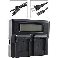 DSTE 1.5A Dual Battery Charger for Olympus LI-50B LI-60B LI-90B Nikon EN-EL11 Sony NP-BK1 NP-BY1 NP-FK1 Casio NP-150 Pentax D-LI78 D-LI92 With USB Port