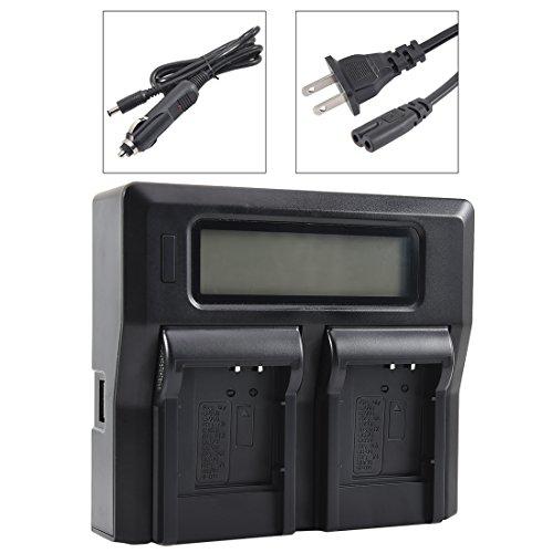 DSTE Replacement for 1.5A Dual Battery Charger Compatible Olympus LI-50B 60B 90B Compatible Nikon EN-EL11 Compatible Sony NP-BK1 BY1 FK1 Compatible Casio NP-150 with USB Port as LI-50C UC-90