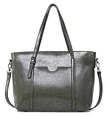875984132e875 Amazon.com  Dreubea Women s Soft Leather Handbag Big Capacity Tote ...