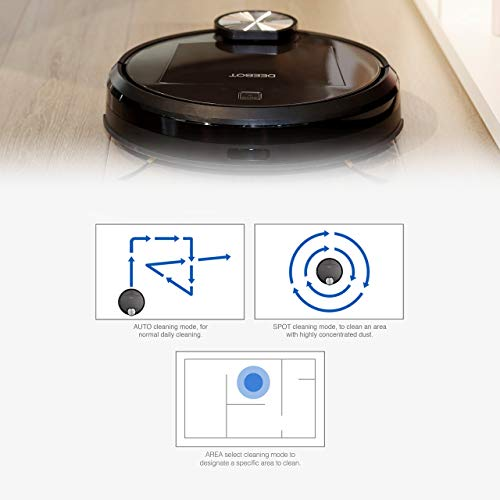ECOVACS DEEBOT R95 Robotic Vacuum with the latest mapping technology, perfect for bare floors and carpets, and homes with pets, Wifi enabled, Compatible with Alexa (Renewed)